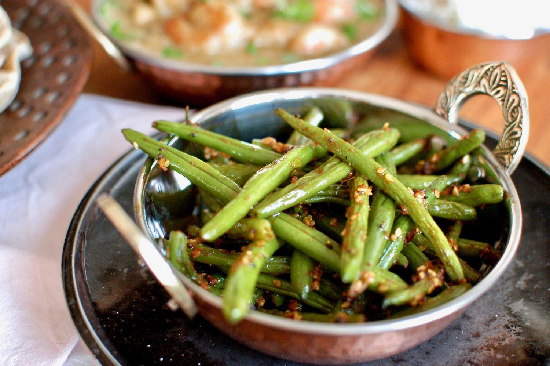 Zelené fazuľky so zázvorom a horčičnými semienkami