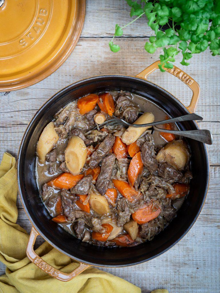 hovädzie ragú zemiaková kaša
